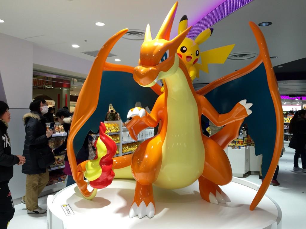 pokemon center tokyo ikebukuro charizard pikachu statue