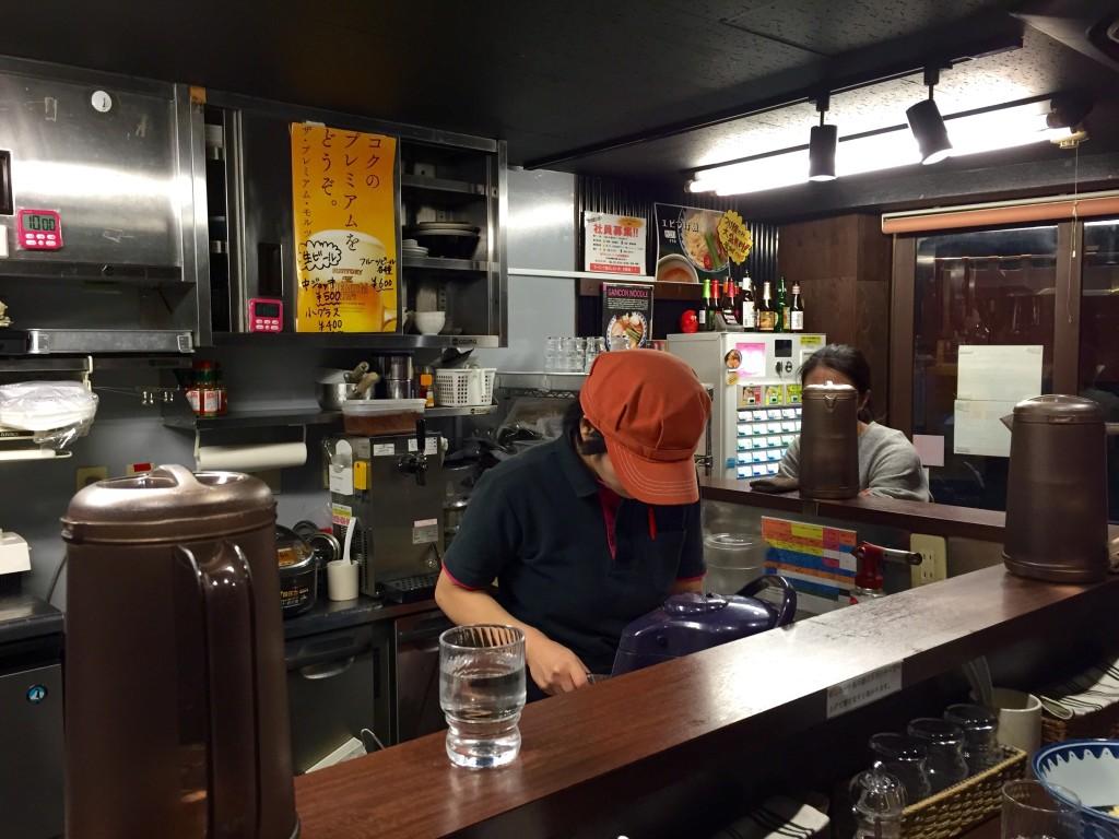 Gancon Noodle Tokyo Interior