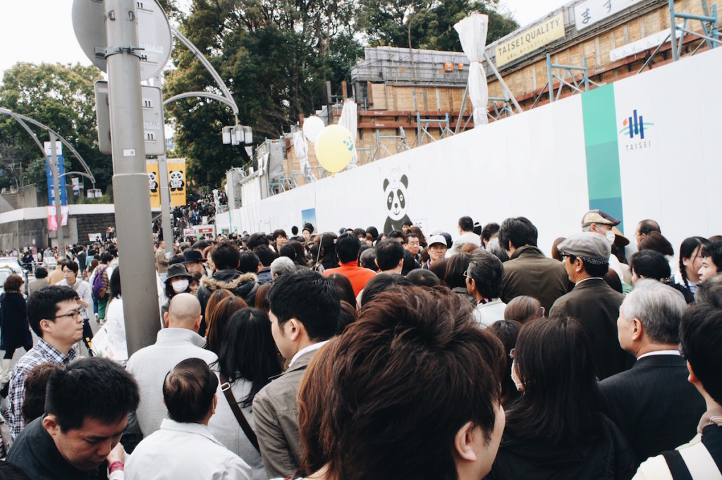 crazy crowds at ueno