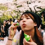 fun under the sakura trees