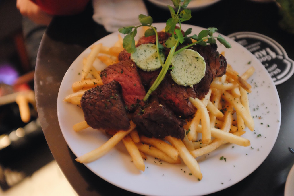 goodbeer faucets wagyu steak and fries