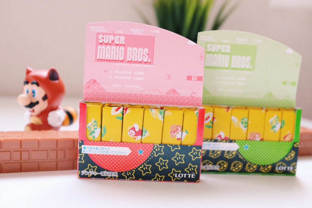 Lotte Fit's Super Mario gum packaging