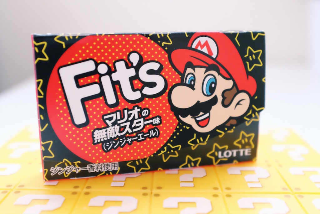 Lotte Fit's ginger ale Mario gum