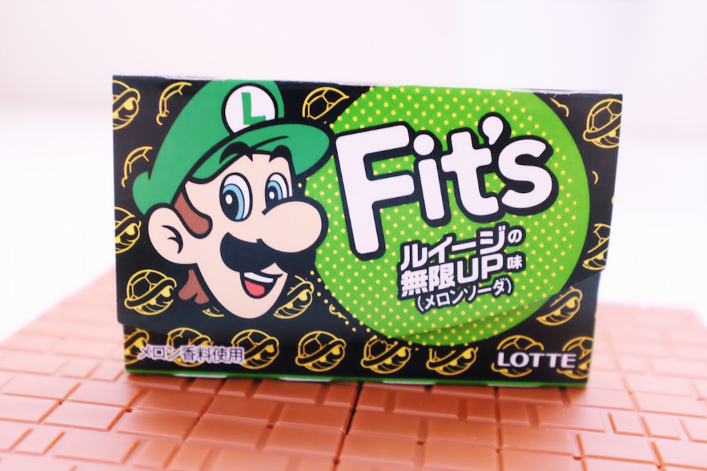 Lotte Fit's melon soda Luigi gum