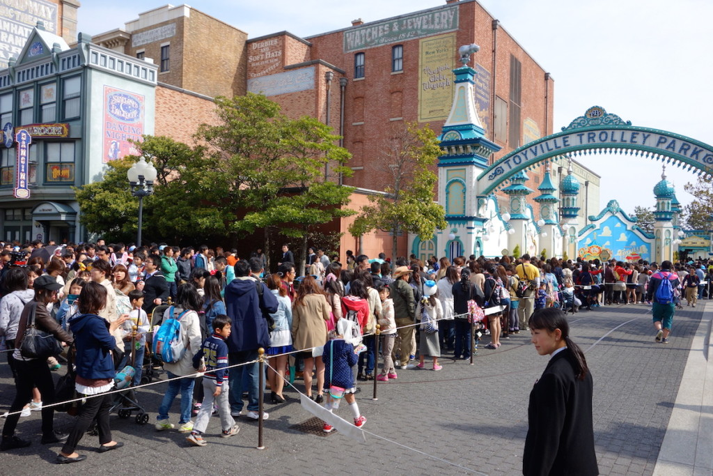 Standby line for Toy Story Mania DisneySea