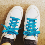 shoes with blue seria laces