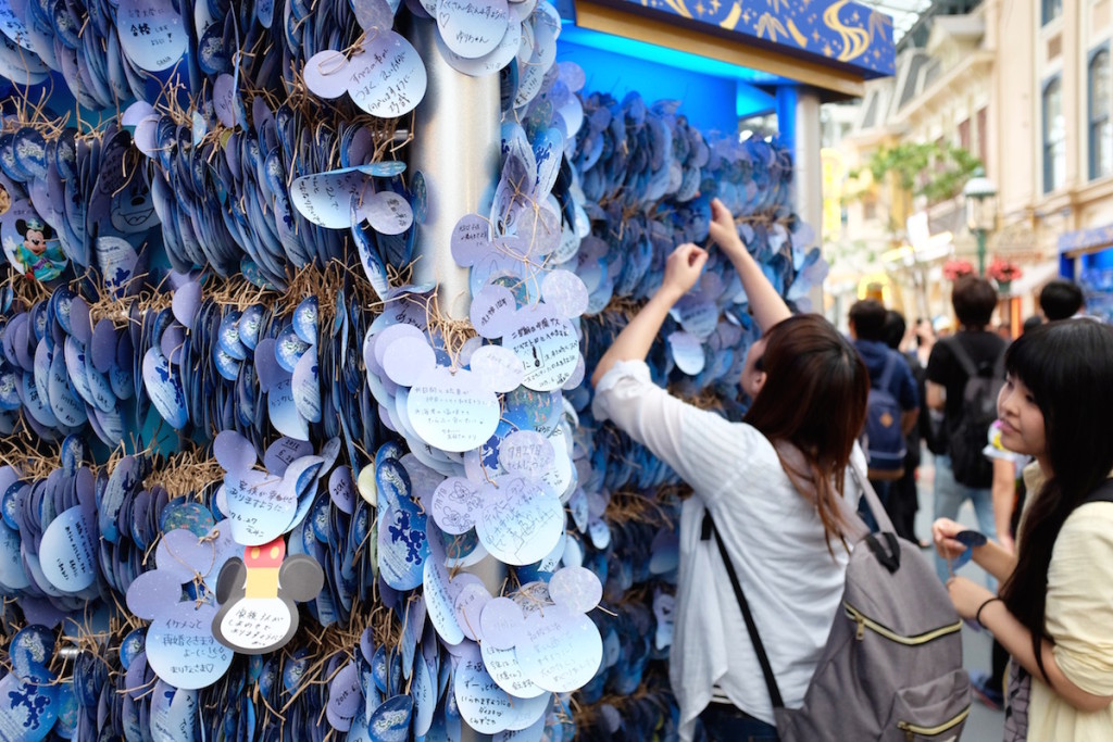 disneyland tanabata display