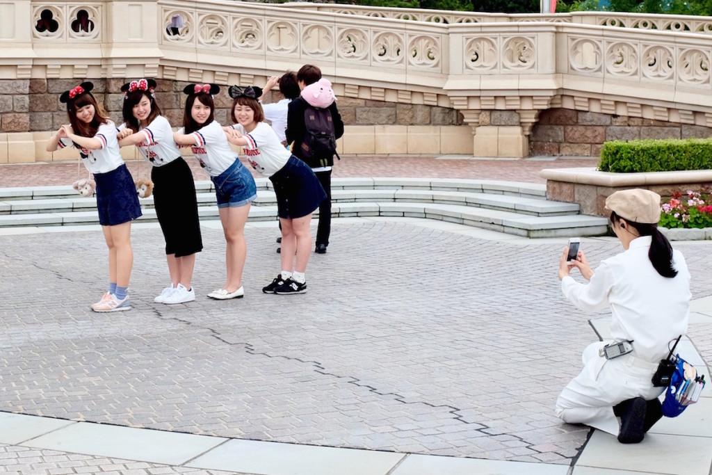 group of girls in tokyo disneyland