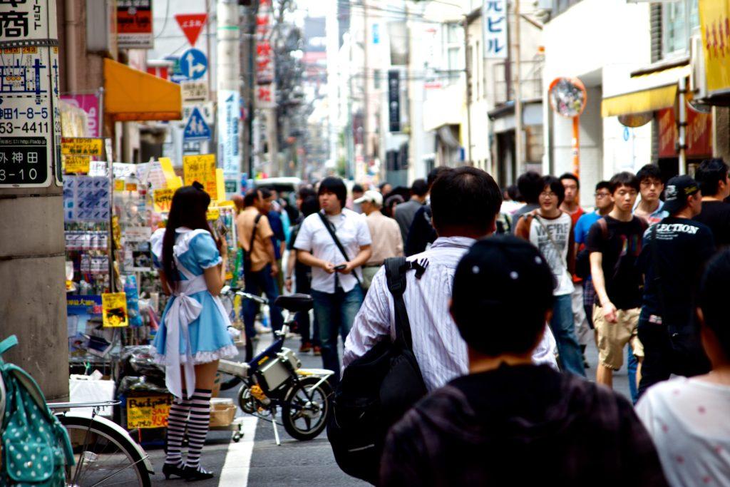 akihabara street maids